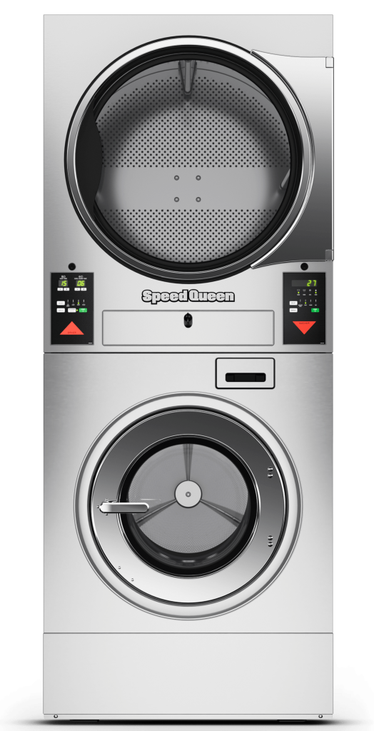 Speed Queen Quantum Vended Stacked Front Load Washer and Dryer