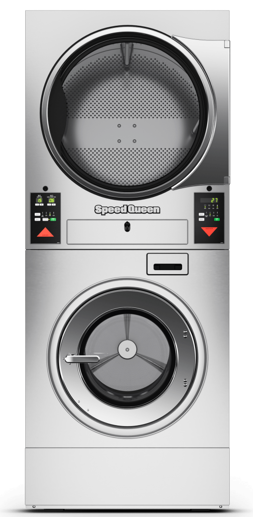 Speed Queen Stacked Washer Extractor and Tumble Dryer