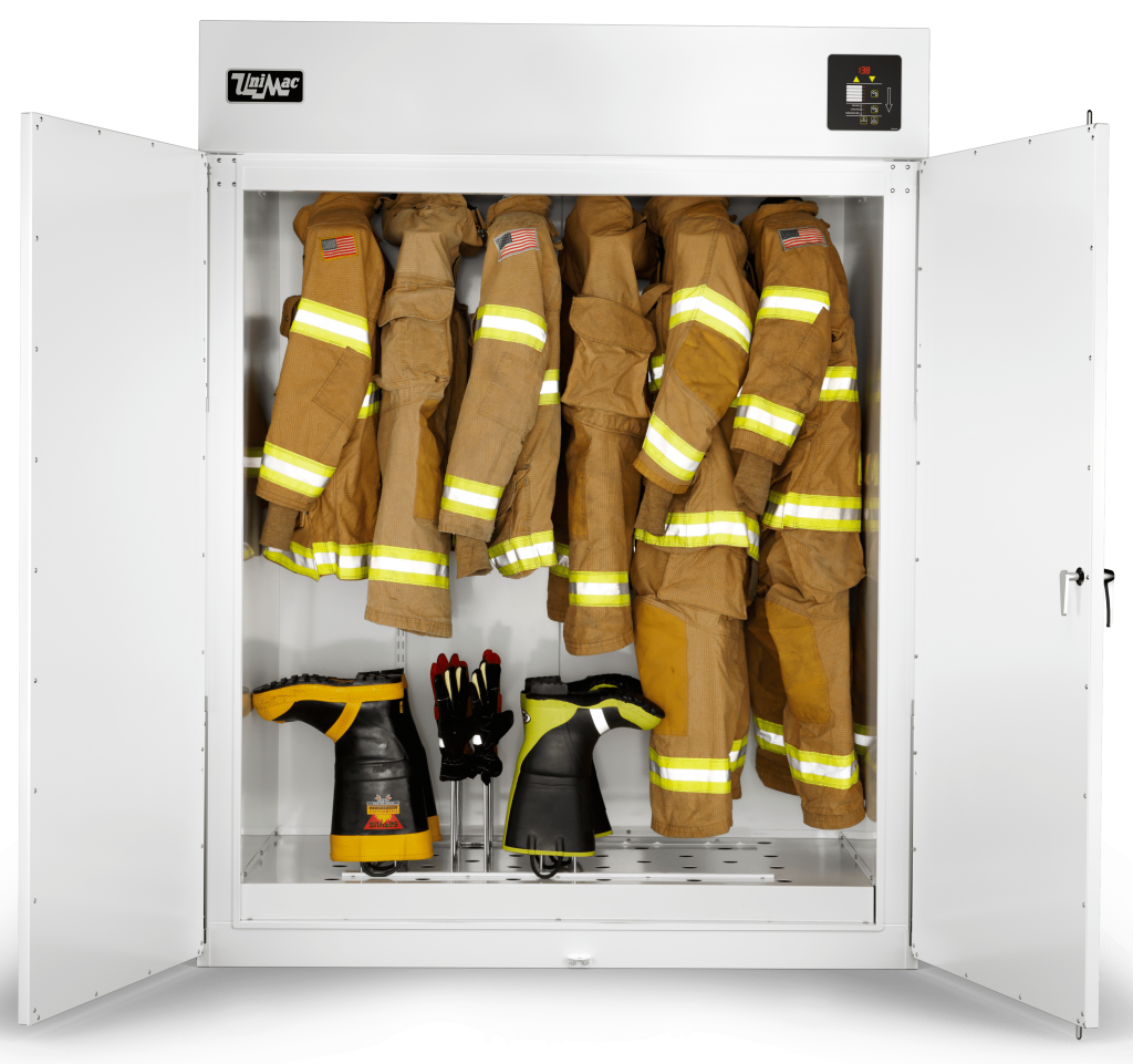 Unimac PPE Drying Cabinet Used for Firefighter Uniforms
