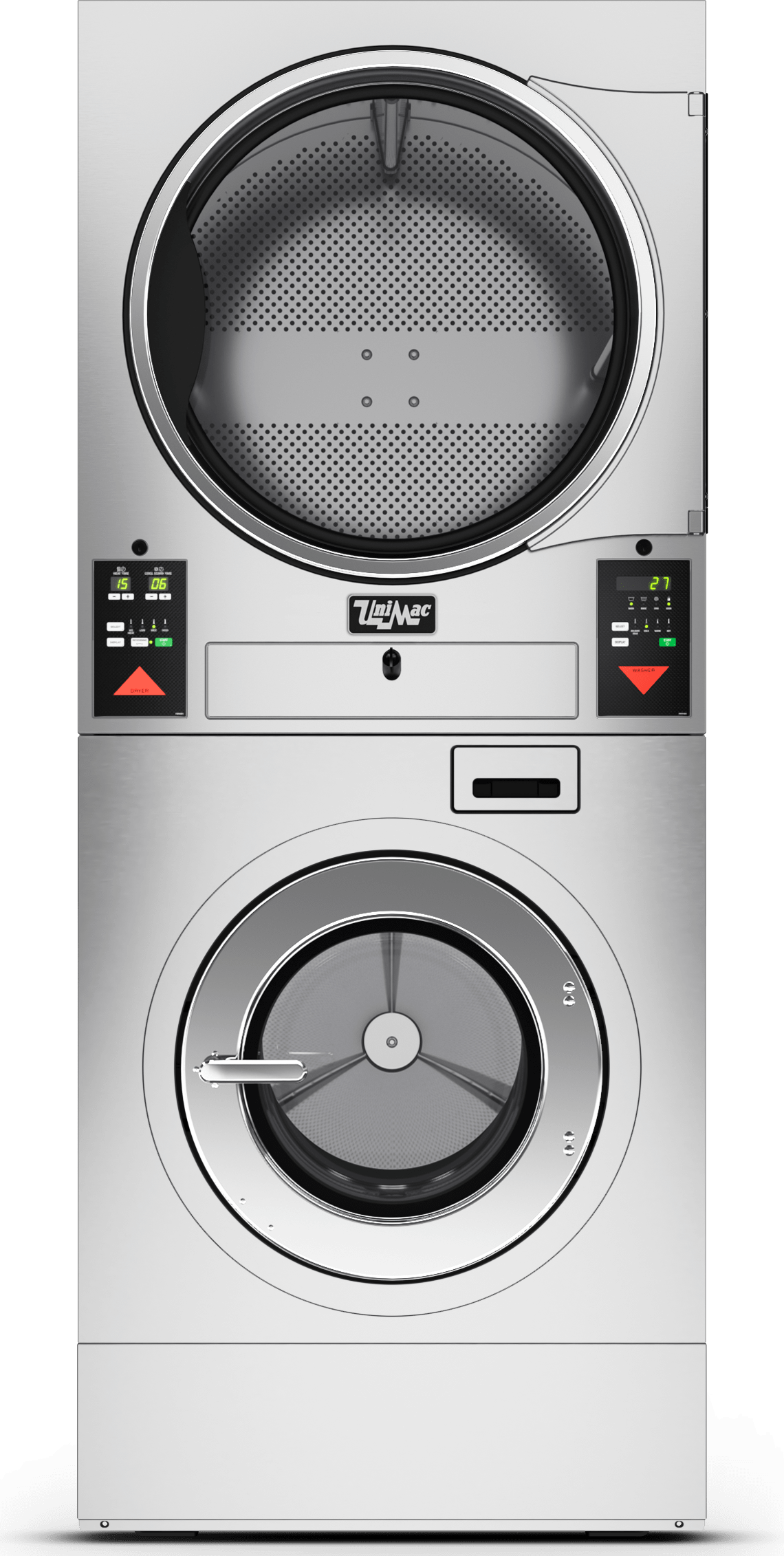 UniMac Stacked Washer Extractor and Tumble Dryer