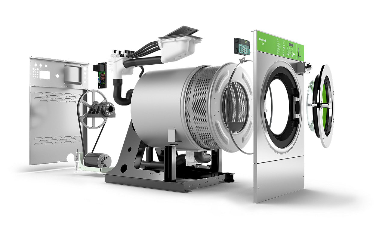 Huebsch Washer Product Expanded to Show Detail