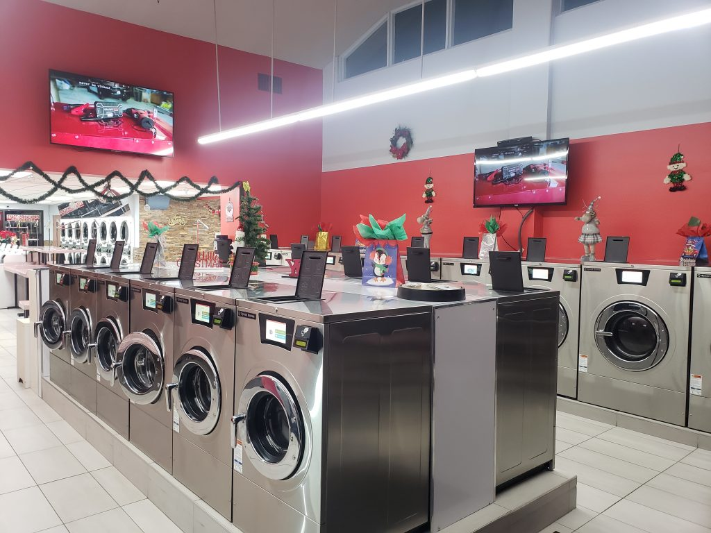 Laundromat with Commercial Laundry Equipment from Metropolitan Laundry Service