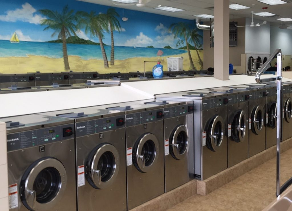 Laundromat in New Jersey with Commercial Laundry Equipment from Metropolitan Laundry Service