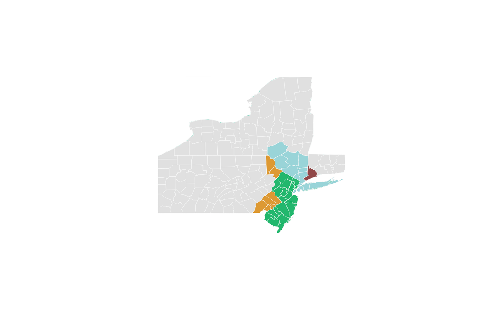 Metropolitan Machinery Coverage Area in New York, New Jersey, Connecticut, Pennsylvania, and Delaware